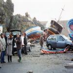 Sintesi fotografica della mareggiata del 28 dicembre 1999 a Marinella  a cura di Alessandro Carati - bagnara