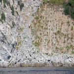 Le condizioni pietose della costiera e le nuove frane