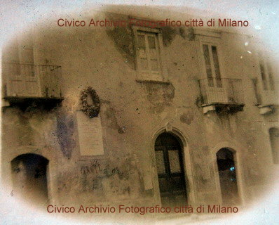 La facciata del palazzo Romano alla fine del 1800