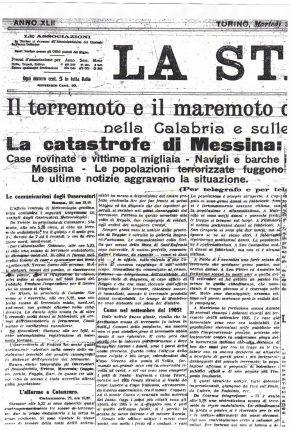 bagnara articoli sul terremoto 1908