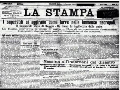 bagnara terremoto 1908 saffioti