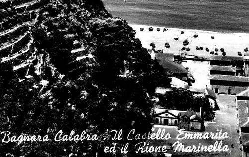La vecchia chiesa di Marinella in una Cartolina dei primi anni 50