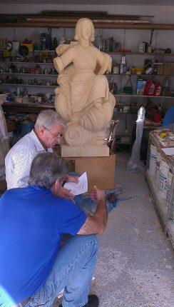 costruzione della statua sydney