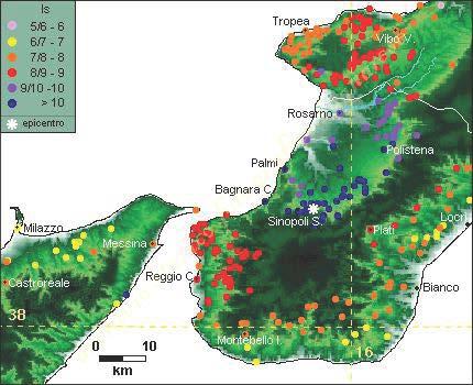 I terremoti storici a Bagnara