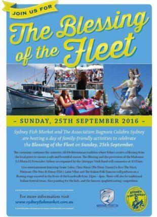 la tradizionale processione e la benedizione dei pescherecci della madonna di Portosalvo  organizzata dall'associazione Bagnara Calabra Sydney