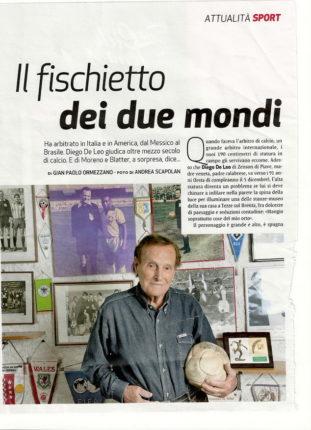 Un articolo di Gian Paolo Ormezzano su DIEGO DE LEO