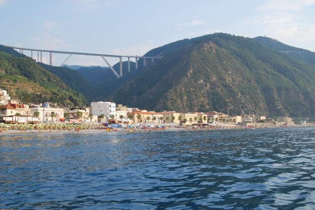 19 agosto 2009 Bagnara vista dal mare