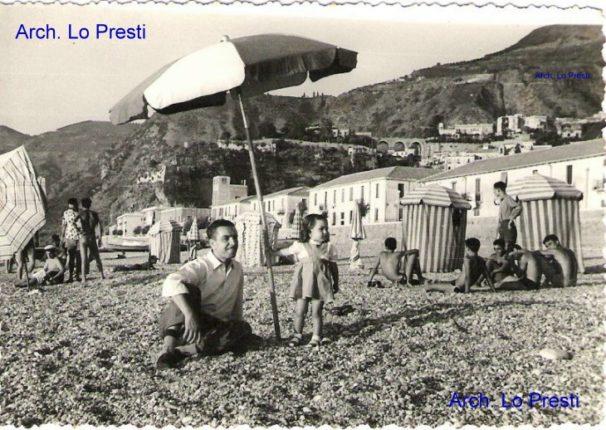 La spiaggia di Bagnara nel 1956