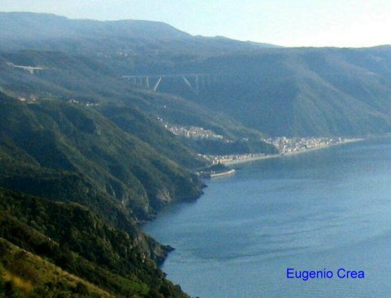 Bagnara vista dalla strada del trecciolino  panoramica di Eugenio Crea