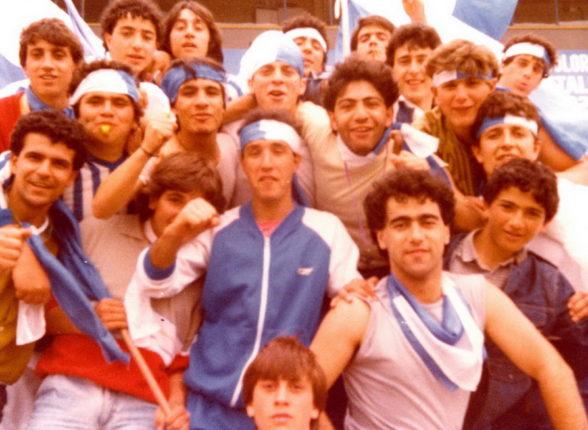 Giovani tifosi della bagnarese  Cosenza maggio 1984    foto di Giacomo Vuolo