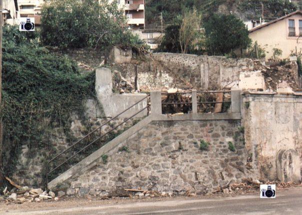 Particolare dell'attuale piazza Amendola e scorcio panoramico  com'era negli anni 80