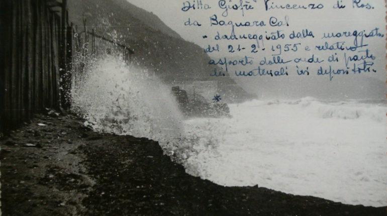 21 febbraio 1955 Mareggiata investe la spiaggia bagnarese
