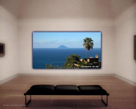 Lo Stromboli visto da Pellegrina  di Giampaolo De Leo