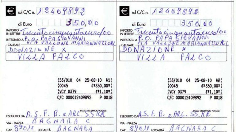 donazione villa falco - bgnara, rosario