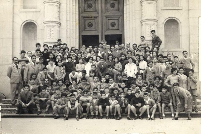 Anno scolastico 1954 - 1955  foto di Angelo Falvetti