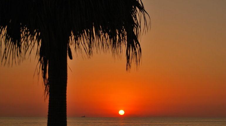 Un tramonto dell'agosto 2008