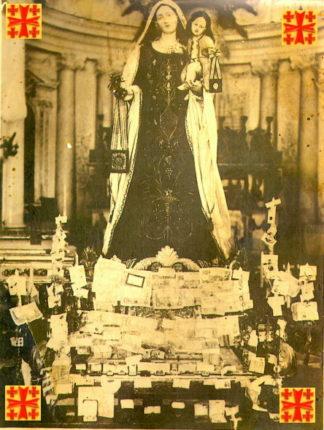 1928 la statua della Madonna del Carmelo  di Bagnara Calabra, fu scoronata nel suo santuario da mano sacrilega e derubata  di molti oggetti di valore.