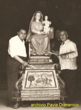 1 giugno 1961 il restauro della statua della Madonna della montagna