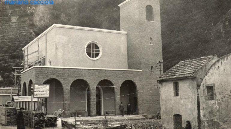 bagnara  . marinella lavori per la costruzione della chiesa