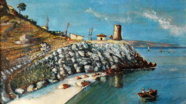 Un quadro di Rosario De Leo di uno dei luoghi più belli e caratteristici di Bagnara,  oggi stravolti dell'evoluzione (se cosi possiamo definirla) della società.