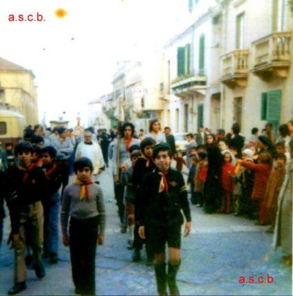 GLI SCOUT DI BAGNARA  foto primi anni settanta in occasione di una processione