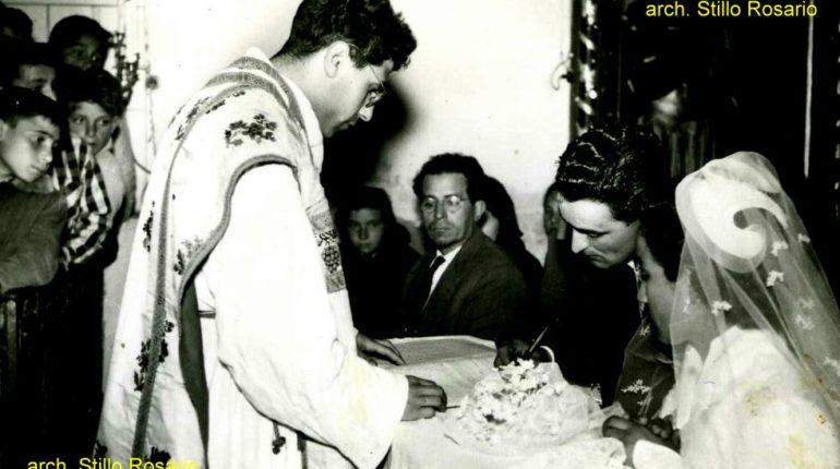matrimonio tra Ianni' Carmela (Momma), e Gregorio Stillo celebrato da don Giovanni Cacciola