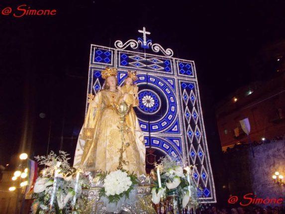 Alcune fasi della processione della Madonna del Carmine 2013  foto di Bagnato Simone