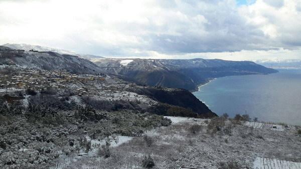 La nevicata del 9 febbraio 2015  foto di Laurendi - Pavia - Imbesi e altri  Bagnara centro - Pellegrina - Ceramida -  Solano e altro