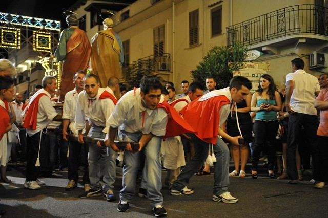 I fuochi della festa dei SS. Pietro e Paolo 2012  foto a cura di Rosario Stillo