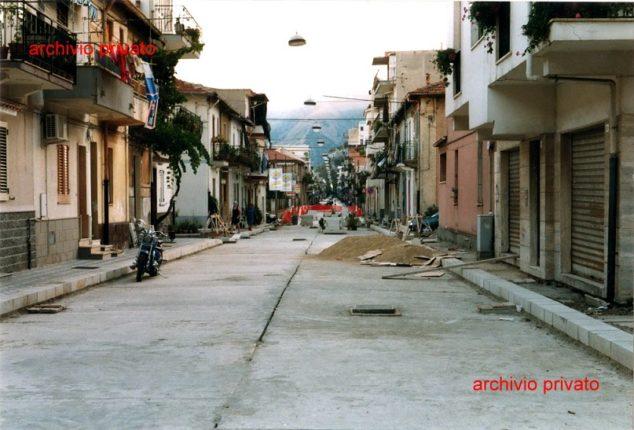 """Bagnara Calabra 1999 lavori in """"Corso""""  lavori di rifacimento del corso Vittorio Emanuele II"""