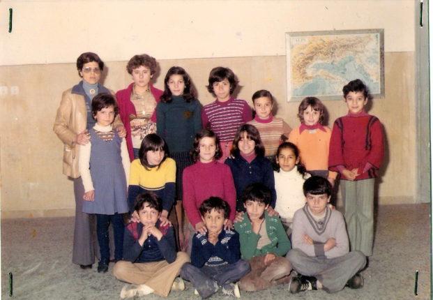 La quarta elementare di Marinella  anno scolastico 1976/77  insegnante Cettina Meduri