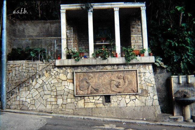 La cappella delle Anime al Purgatorio e particolare l'opera d'arte connessa