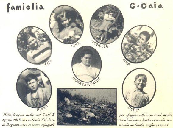 Bagnara 8 agosto 1943  Le bombe degli alleati distruggono un'intera famiglia  di Silvio Pellegrino