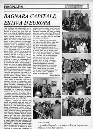7 marzo 1982     Bagnara calabra capitale estiva d' Europa