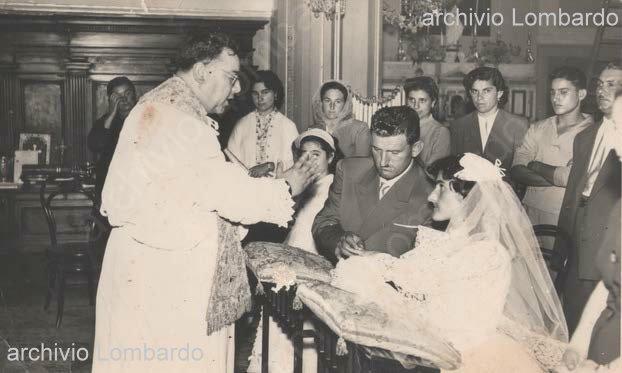 Matrimonio della metà degli anni 50  celebrato nella chiesa del Rosario da don Antoninò Gioffrè