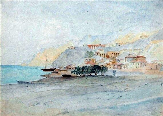 Il terzo disegno di E. Lear su Bagnara  1852  per informazioni sull'opera cliccare qui  si ringrazia per la collaborazione il dott. Enzo Barilà