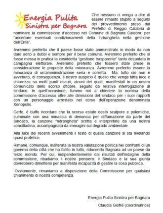 Commissione d'accesso nel Comune di Bagnara Calabra, per accertare eventuali condizionamenti della 'ndrangheta nella gestione  dell'Ente