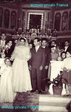 Chiesa abaziale di Bagnara Calabra  19 febbraio 1955  sposi  Teresa (Maria Teresa) Ciurleo  e  Enzo (Alfredo Pietro) Trifirò