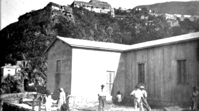 La sede della cooperativa dei pescatori di Bagnara  foto tratta dall'archivio di U. Zanotti Bianco