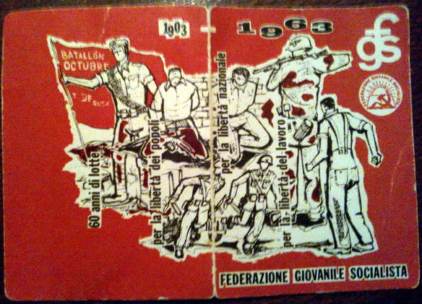 Tessera della federazione giovanile socialista  del gruppo di Bagnara Calabra  del 1963  quando tutto ancora sembrava possibile  si ringrazia per la collaborazione il sig. Tripodi Francesco