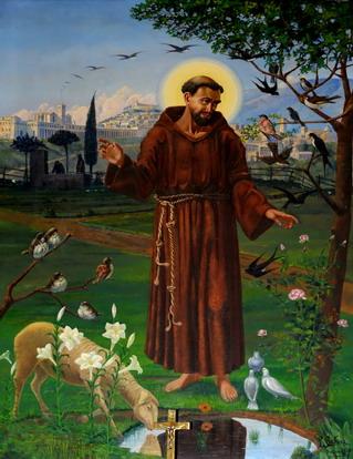 Bagnara città d'arte e di cultura  San Francesco d'Assisi  opera di Luigi Cristina del 1930