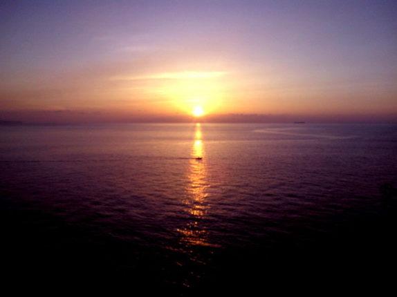 Il tramonto visto dalla torre aragonese  Bagnara 5 giugno 2013