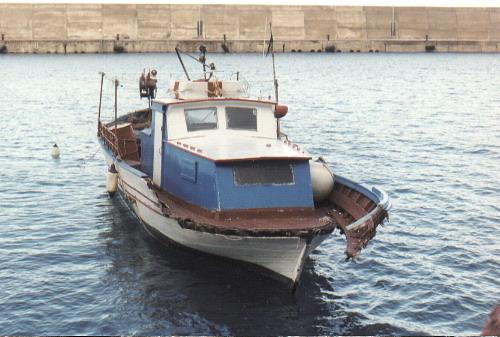 bagnara dicembre 1991, danni al porto e marinella