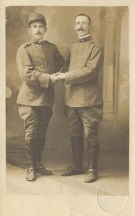 I Bagnaroti  Carmelo e Santo Caratozzolo  padre e figlio  foto risalente alla fine della prima guerra mondiale
