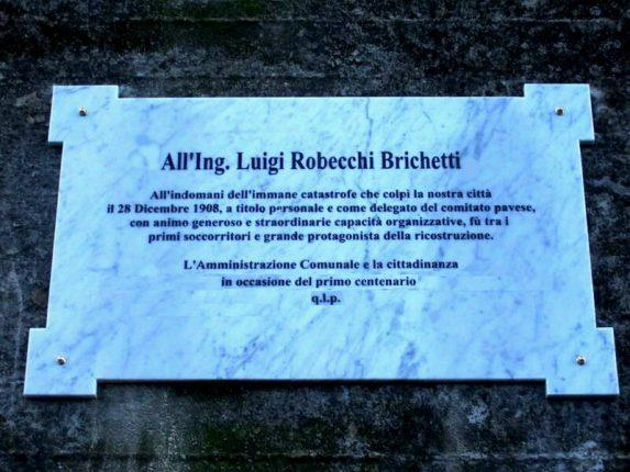 bagnara Lapide in ricordo dell' Ing. Luigi Robecchi Brichetti