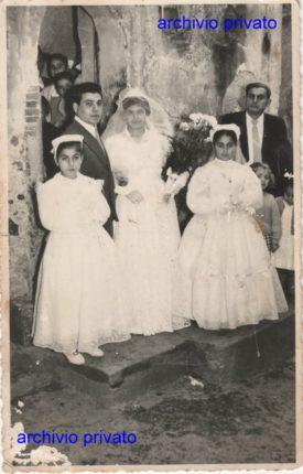 Porelli anni 50  foto del matrimonio di  Lombardo Vincenzo  e Lombardo Concetta