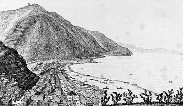 Veduta di Bagnara Calabra, originale presso il palazzo ducale di Urbania PU