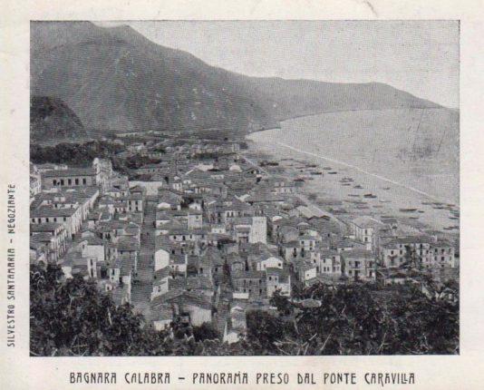 cartolina di bagnara prima del terremoto del 1908