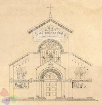 bagnara disegno del progetto della facciata della chiesa del rosario