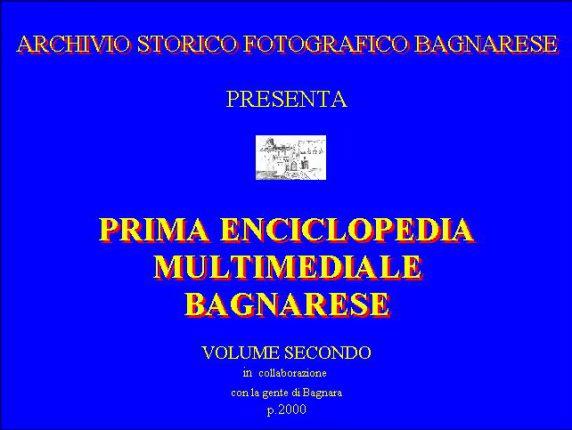 volume secondo dell'enciclopedia multimediale bagnarese anno 2000